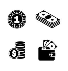 Finances simple related icons vector