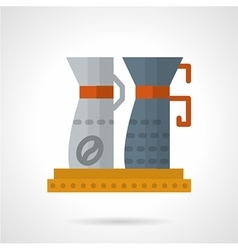 Flat color coffee equipment icon vector image