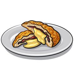 Fried escalope vector
