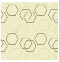 Geometric hexagon uneven seamless pattern vector
