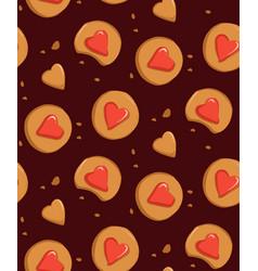 gingerbread cinnamon cookies winter holiday vector image