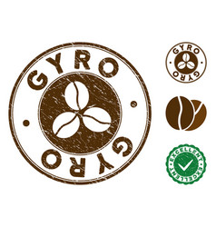 Gyro stamp with grungy surface vector