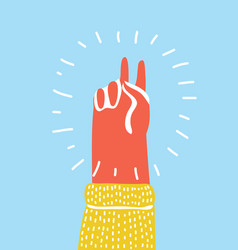 hand gesture peace vector image