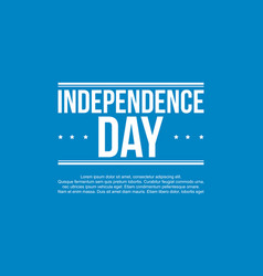 Happy independence day banner art vector