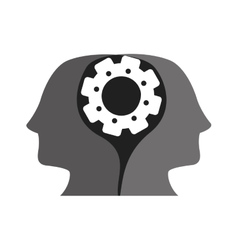 Heads and gear wheel vector