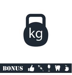 Kettlebell icon flat vector