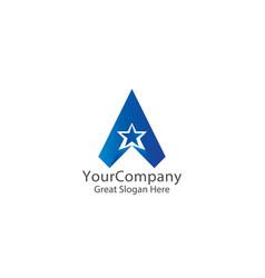 Letter a logo air arrow star creative apps design vector