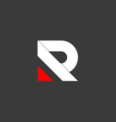 letter r flat logo design vector image