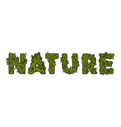 Lettering design weed inscription nature vector