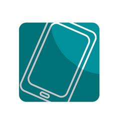 Logotype technology smartphone business data vector