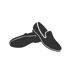 man shoe icon on a white background vector image