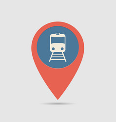 map pin railway station vector image