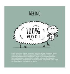 Merino sheep sketch for your design vector