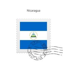 Nicaragua Flag Postage Stamp vector image