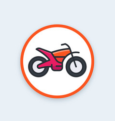 Offroad bike motorcycle icon vector