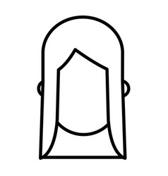 Outlined head faceless girl image vector