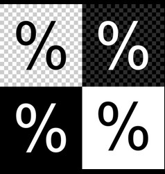 percent symbol discount icon isolated on black vector image
