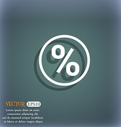 percentage discount icon symbol on the blue-green vector image