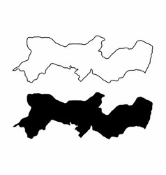 pernambuco state maps vector image