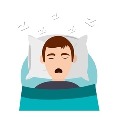 person sleeping in bed icon vector image