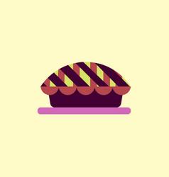 Pie icon delicious vector