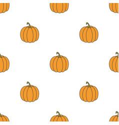 pumpkin hand drawn on white background hand drawn vector image
