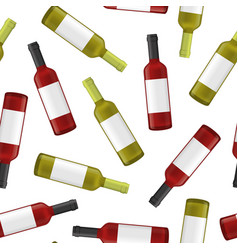 realistic detailed 3d wine bottles seamless vector image