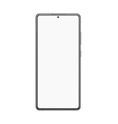 realistic smartphone mockup blank digital display vector image
