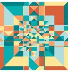 Retro geometric pattern vector image