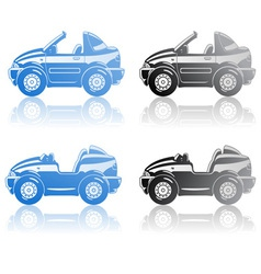 Roadster and targa vector image