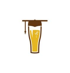 school beer logo icon design vector image