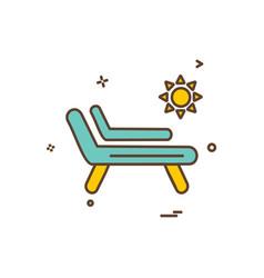sea icon icon design vector image