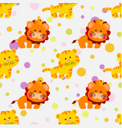 Seamless pattern african animals vector