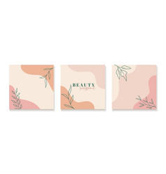 set abstract floral backgrounds for social vector image