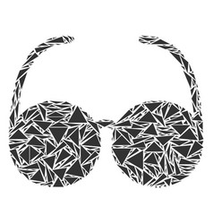 Spectacles collage of triangles vector