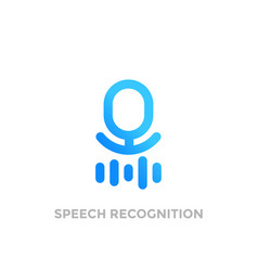 speech recognition logo on white vector image