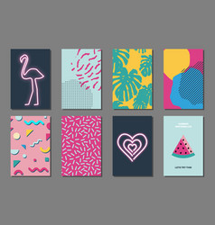 summer journaling cards vector image