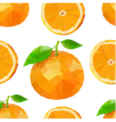 Summer pattern with oranges flowers and vector