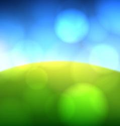 Summer view blurry field background vector