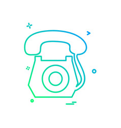 telephone icon design vector image