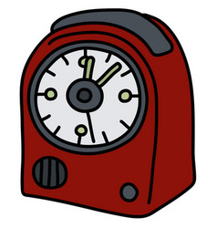 The red small alarm clock vector