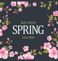 The spring sale card vector