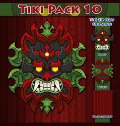 Tiki pack 10 vector