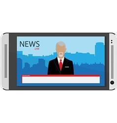 Tv broadcast news vector