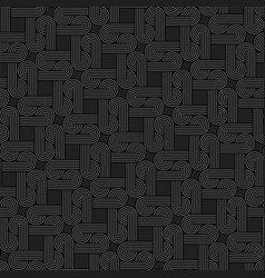 twisted striped lines seamless pattern vector image