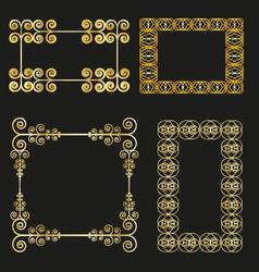 vintage frames set golden vector image