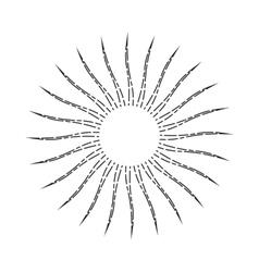 Vintage Linear Sunburst vector image