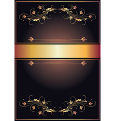 Vintage luxury background with golden ornament vector