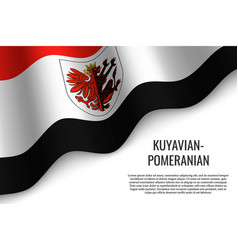 waving flag region poland vector image