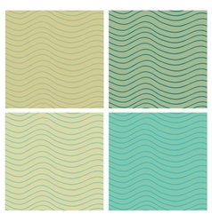 Wavy stripes seamless set vector